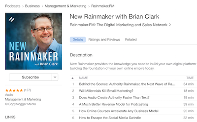 online marketing podcast with Brian Clark