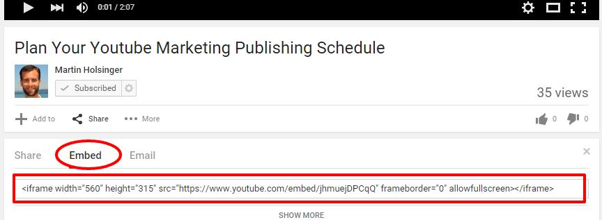 youtube marketing with wordpress