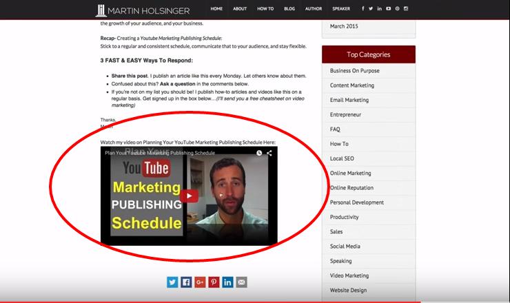How To Embed YouTube Video In WordPress Blog Post - Martin Holsinger