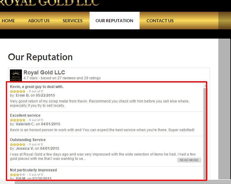 Our Reputation Royal Gold LLC