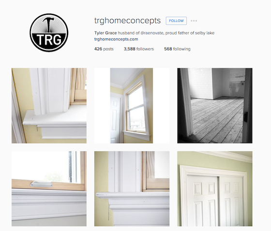 Tyler Grace instagram channel for remodelers