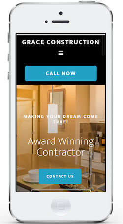 mobile friendly website for contractors