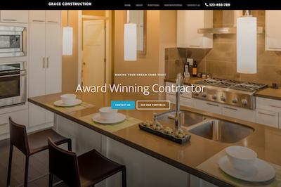 mobile responsive website for contractors