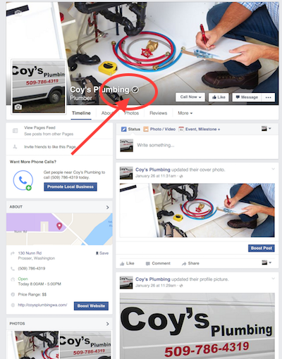 optimized local facebook page