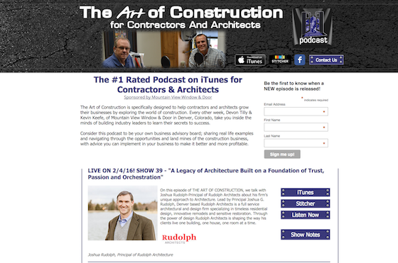 the art of construction podcast for contractors