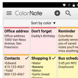 Color Note App