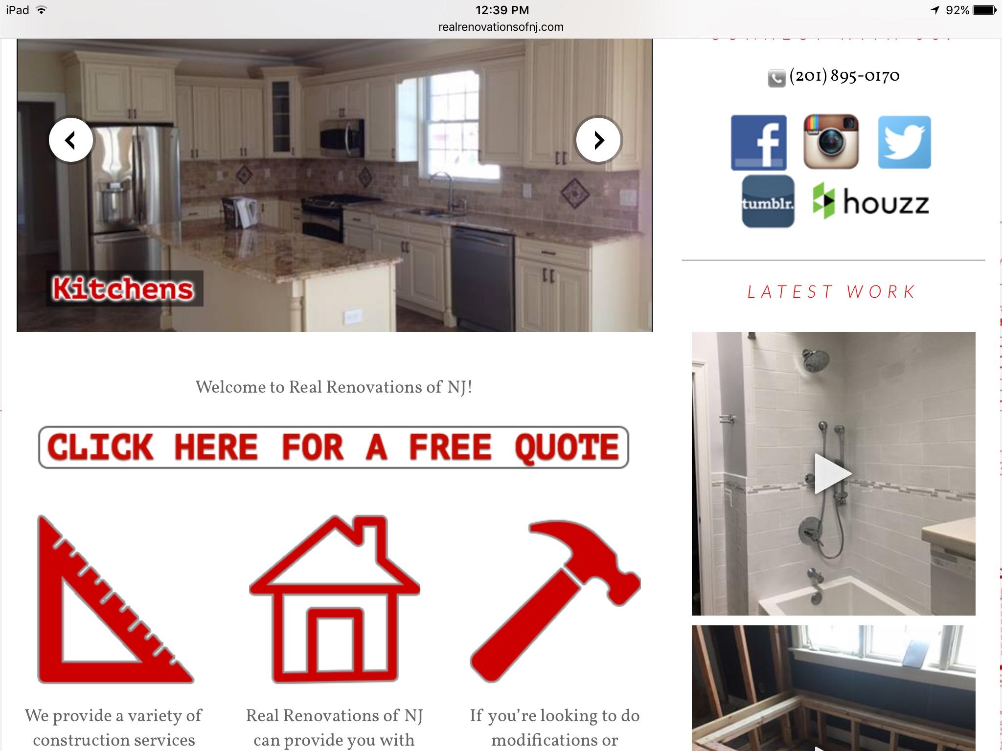 contractor branding website