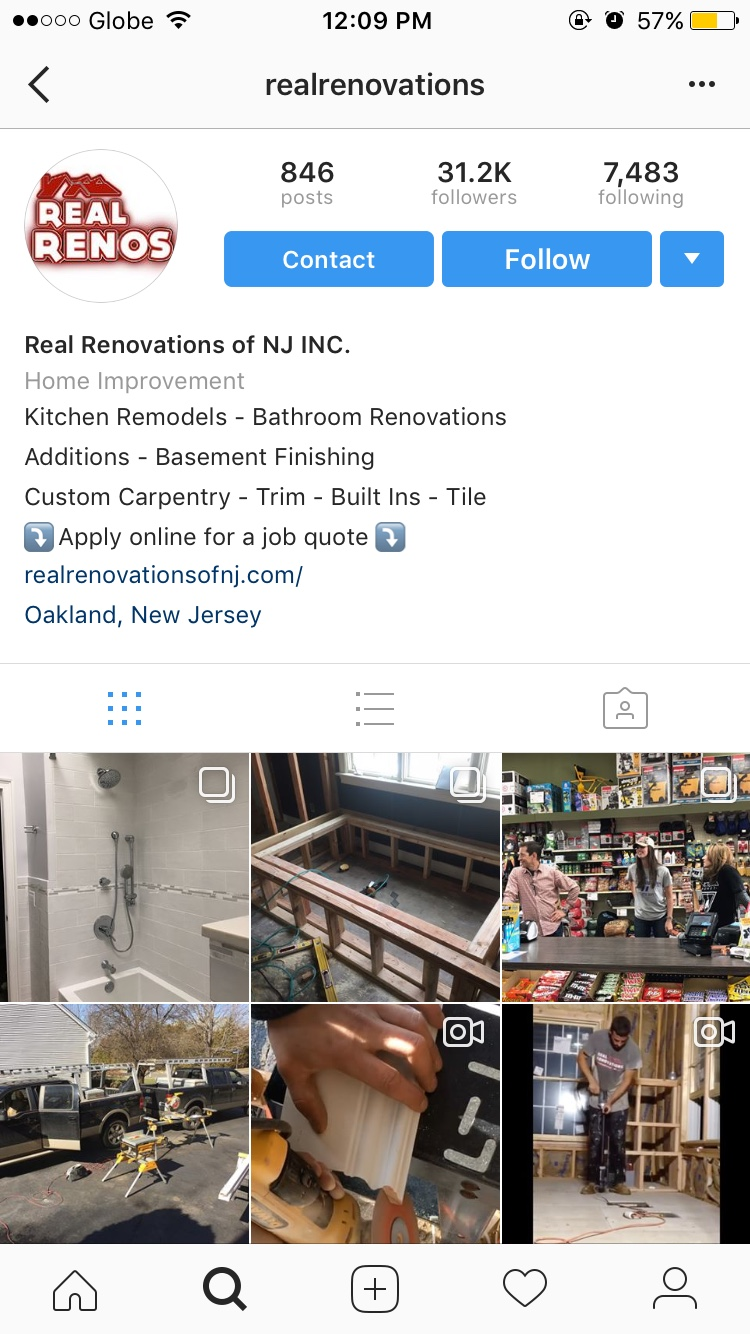 contractor branding on instagram