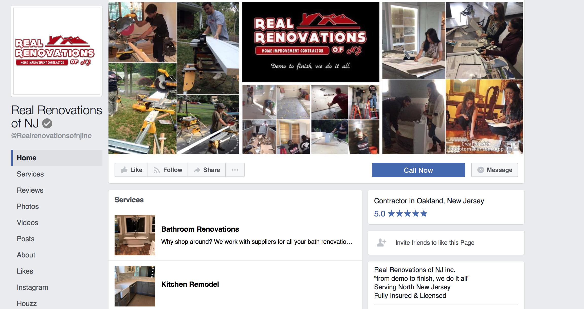 contractor branding on facebook